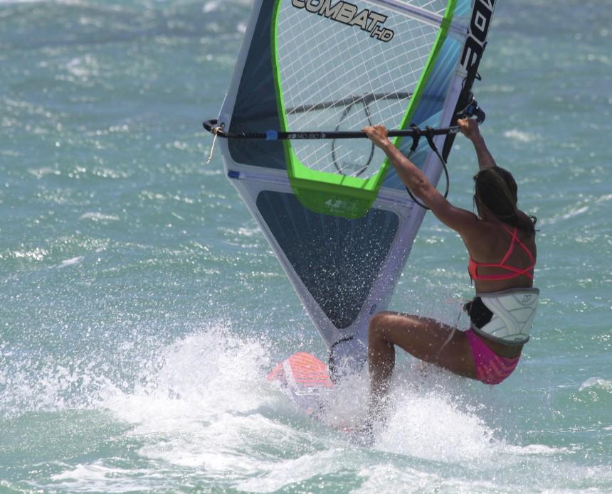 Rescue Stance Shawna Cropas Aloha Windsurfing Clinics
